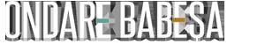 Logotipo Ondare babesa blanco